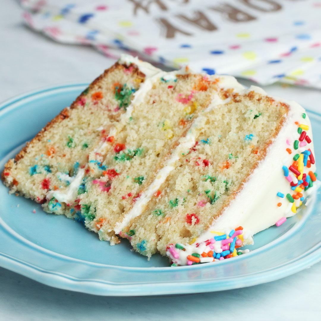 Stupendous The Ultimate Funfetti Cake Recipe By Tasty Personalised Birthday Cards Veneteletsinfo
