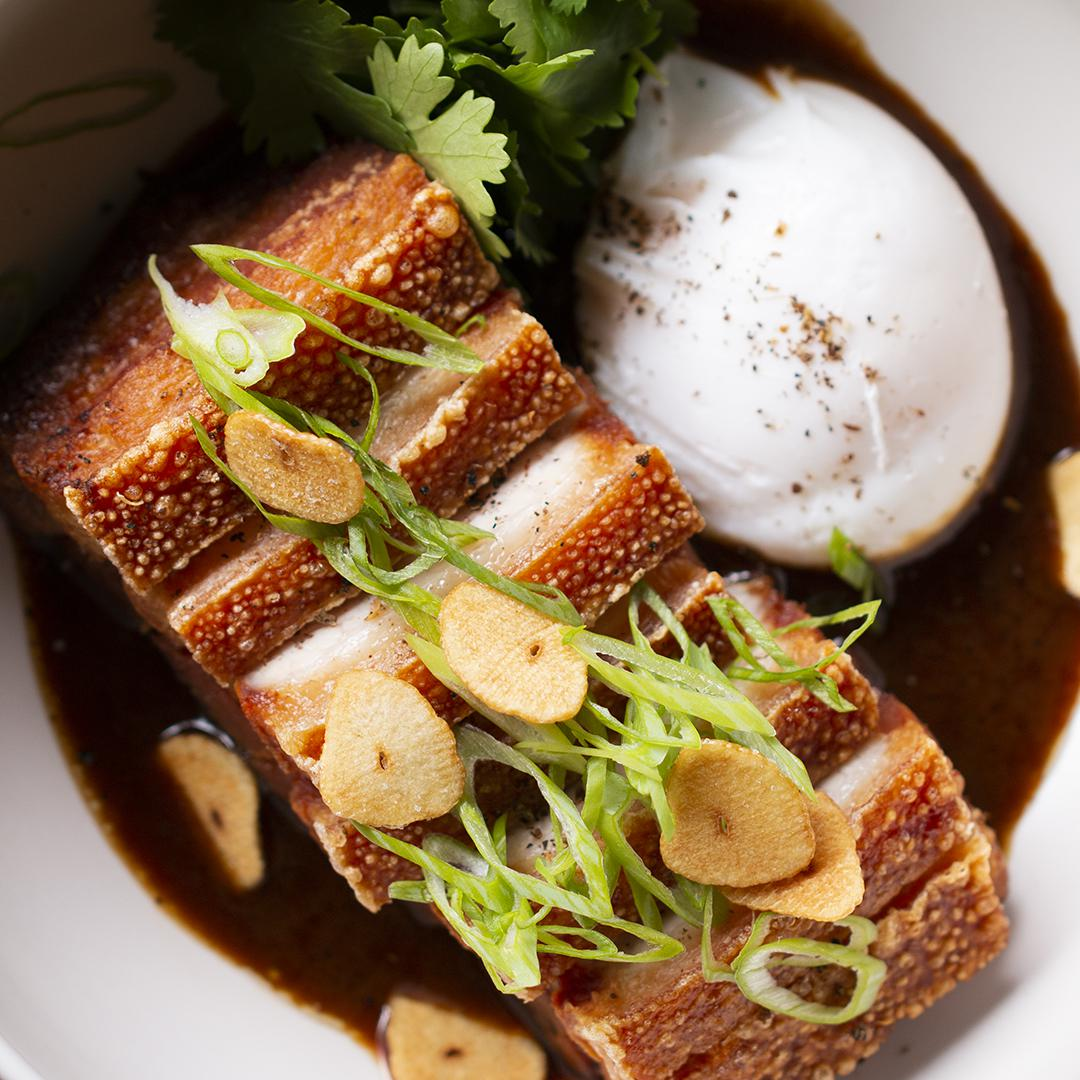 Braised Pork Belly Adobo By Chef Leah Cohen Recipe By Tasty