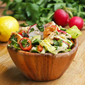 Bowl of middle eastern salad