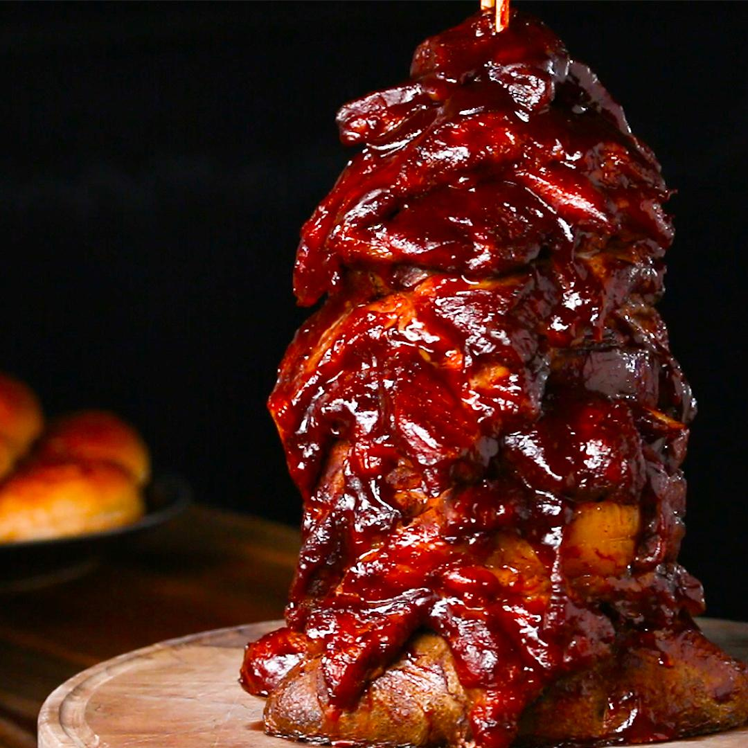 BBQ Pork Party Tower Recipe by Tasty