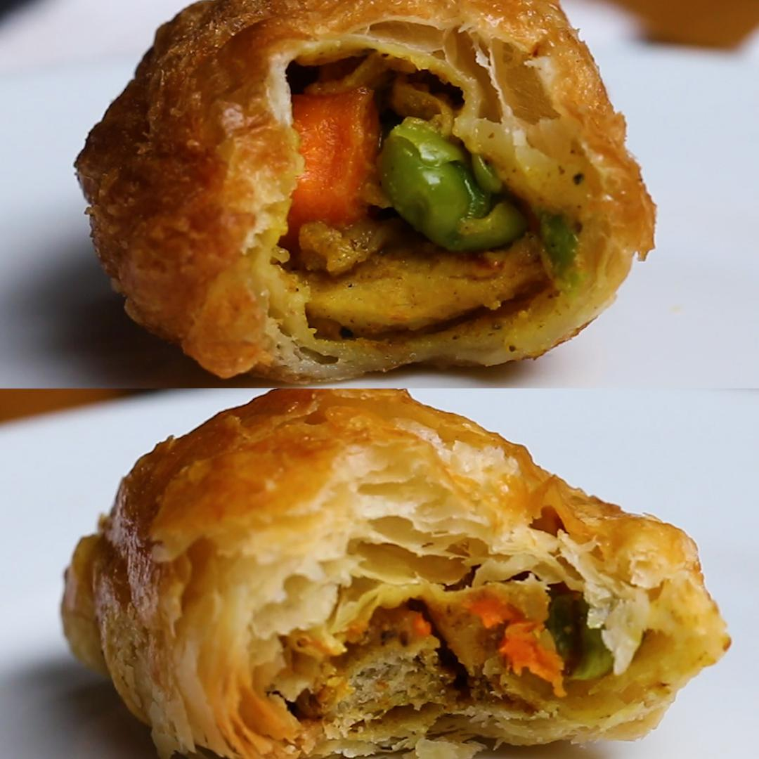 Curry Puffs 2 Ways Recipe by Tasty image