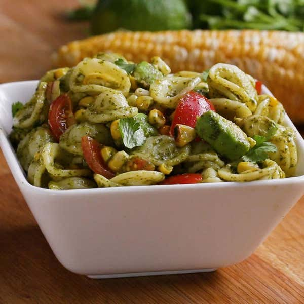 Tasty food videos and recipes grilled corn summer pasta salad forumfinder Image collections