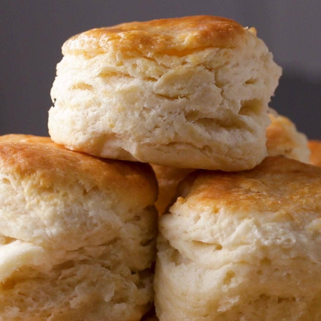 Flakiest Biscuits By Angie Thomas Recipe By Tasty