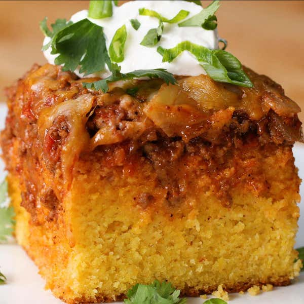 Tasty food videos and recipes chili cheese corn bread poke cake forumfinder Images