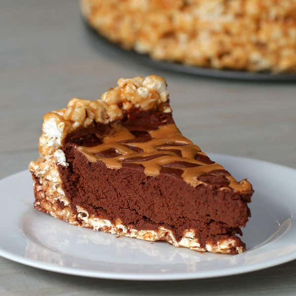 Tasty food videos and recipes chocolate peanut butter popcorn pie forumfinder Images
