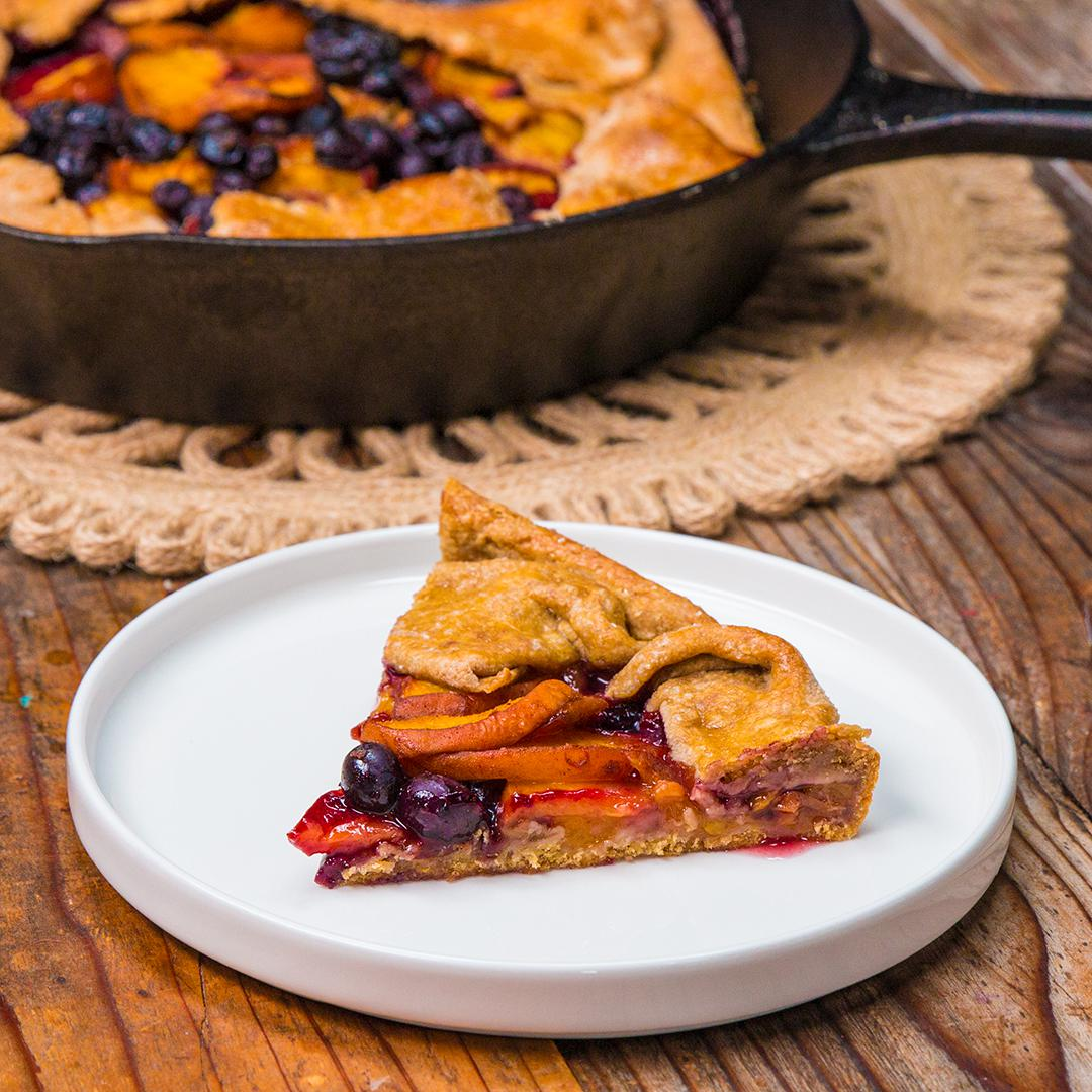 Whole Wheat Blueberry Peach Galette Recipe By Tasty