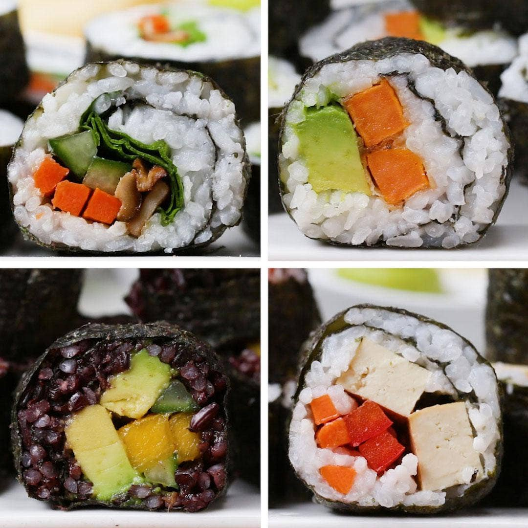 Veggie Sushi 4 Ways Recipe By Tasty