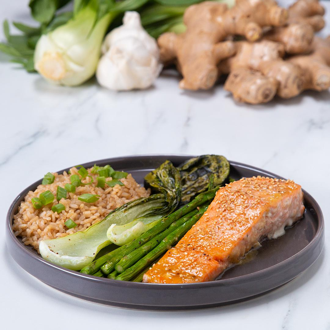 One-Pan Miso Honey Salmon For Two Recipe by Tasty