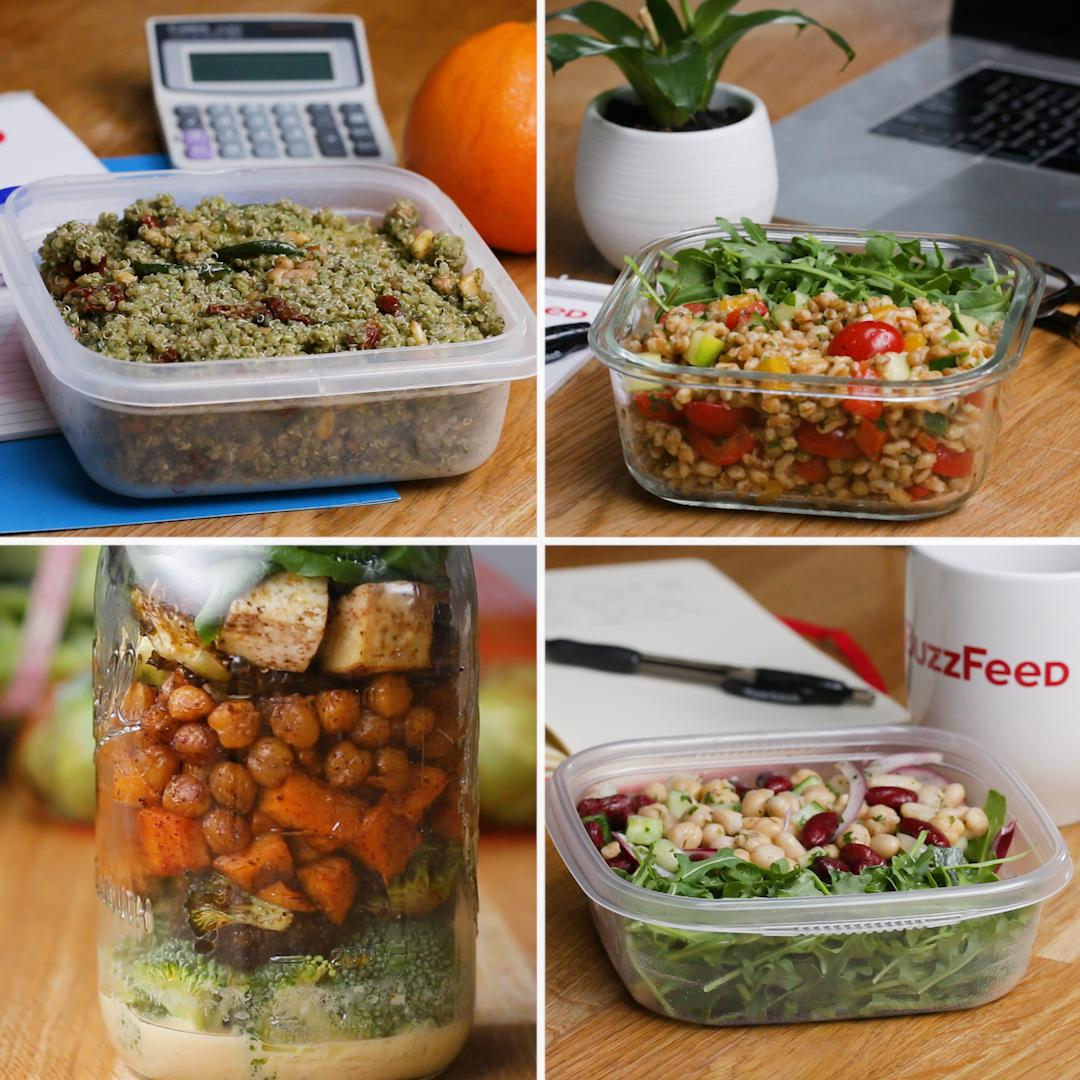 Make Ahead Plant Based Lunches Recipes
