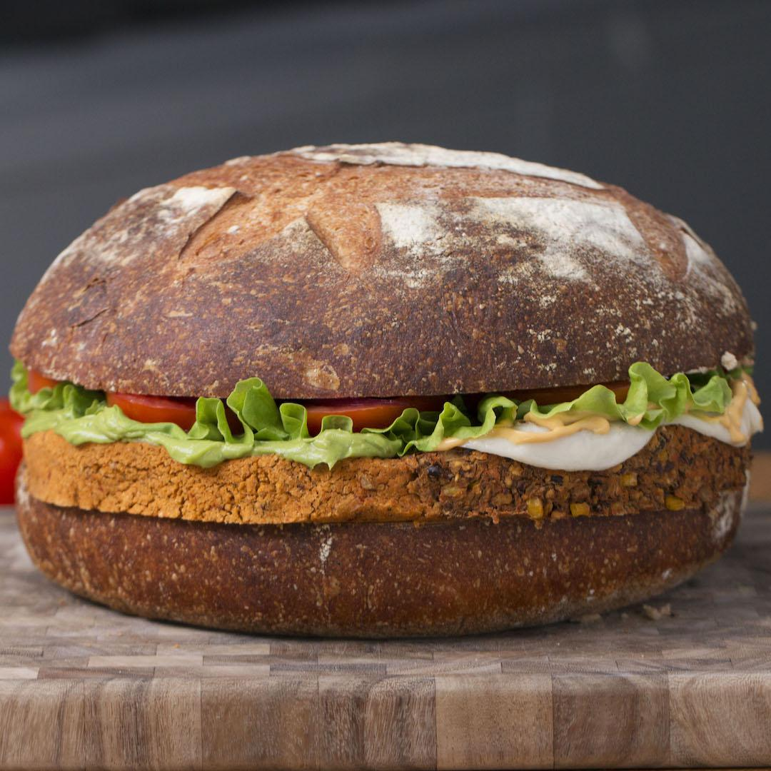 Giant Veggie Burger Recipe By Tasty