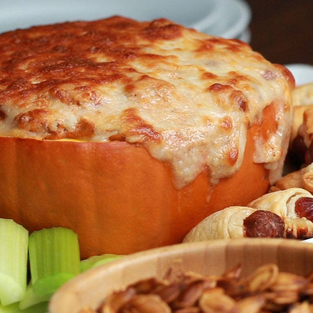 Pumpkin Chili Cheese Dip Recipe By Tasty