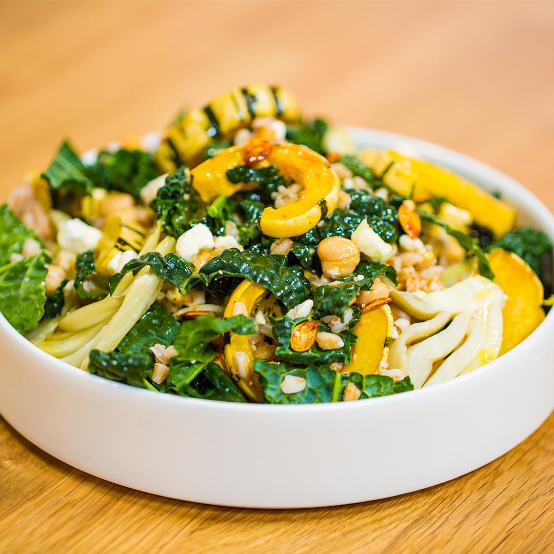 Roasted Delicata Squash And Farro Salad Recipe by Tasty