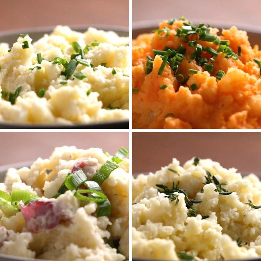 Not-Too-Dense Mashed Sweet Potatoes
