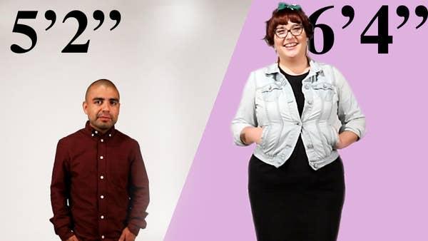 Woman shorter man dating taller Short men