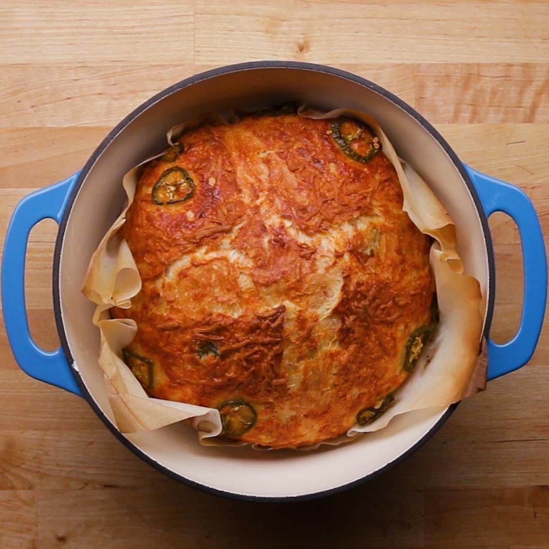Dutch Oven Jalapeno Cheddar Bread Recipe By Tasty