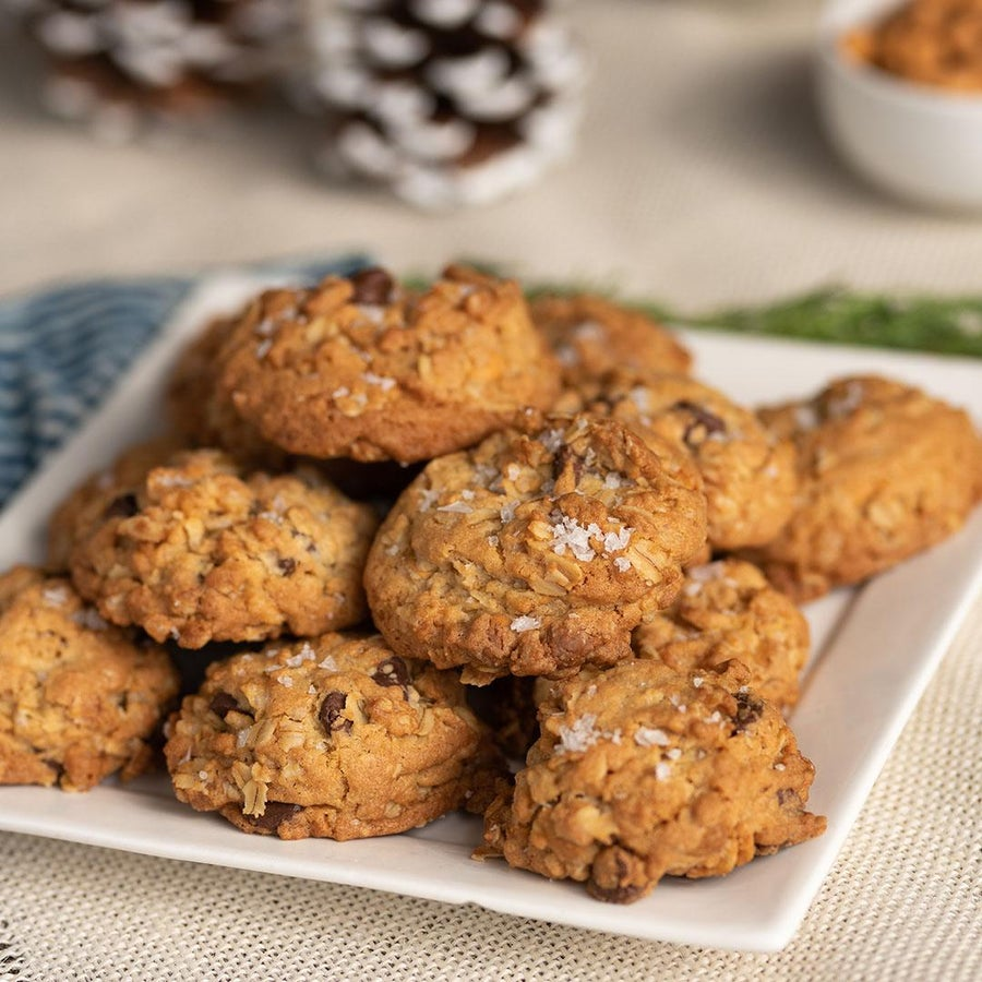 Crispy Rice Chocolate Chip Butterscotch Oatmeal Cookies