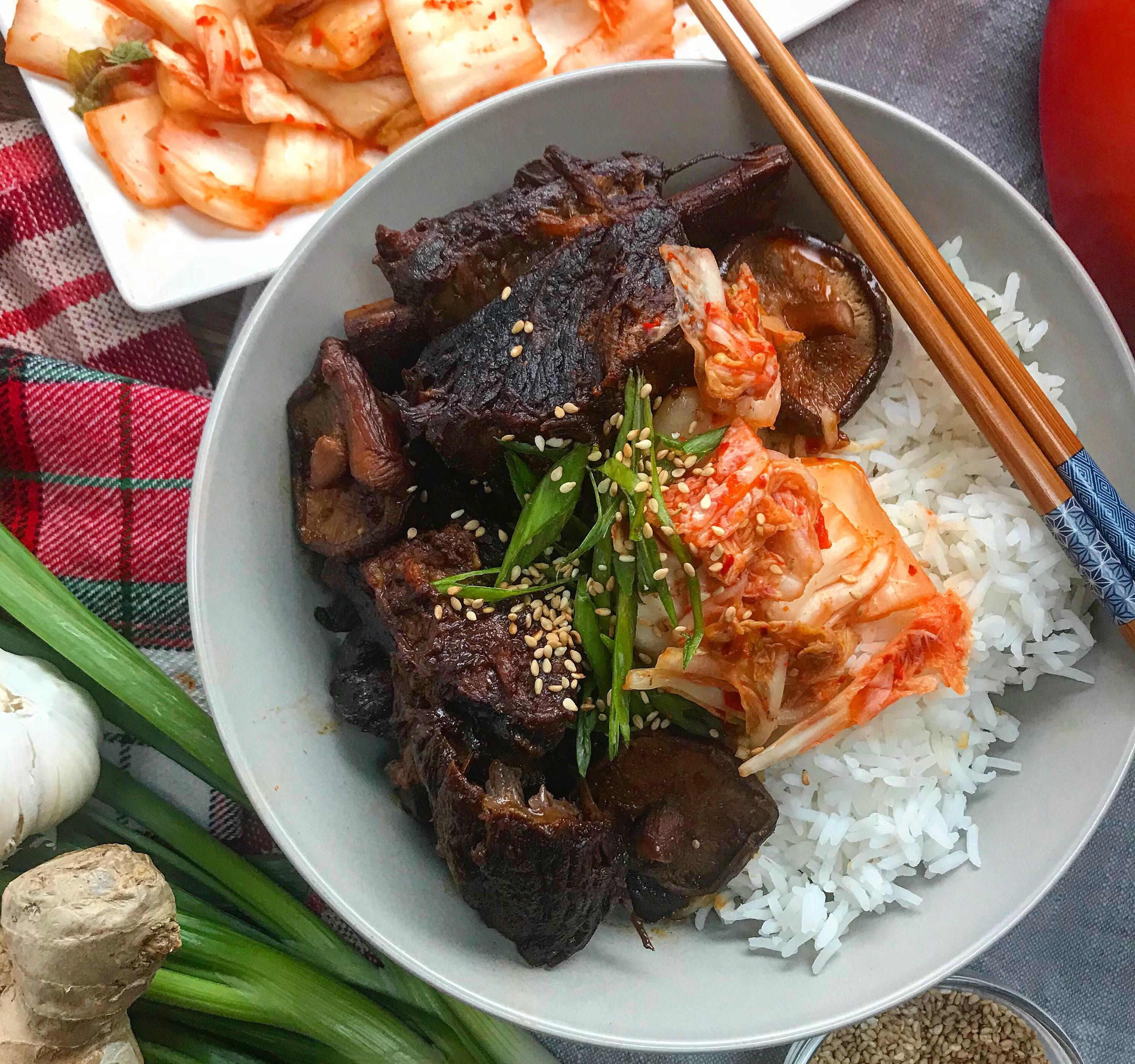 Soy Braised Short Ribs With Shiitakes Recipe By Tasty