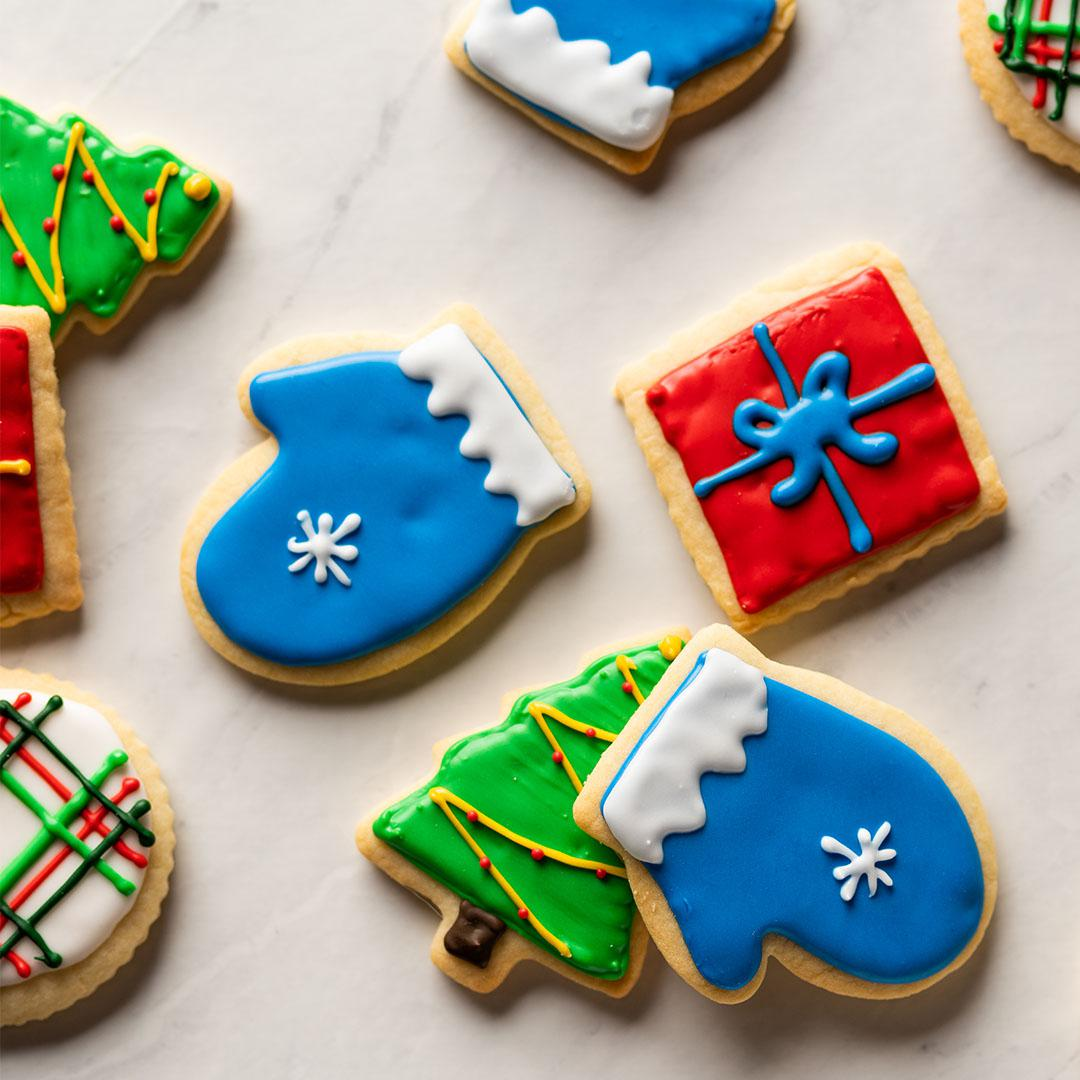 How To Decorate Shortbread Holiday Cut Out Cookies With Royal Icing Recipe By Tasty