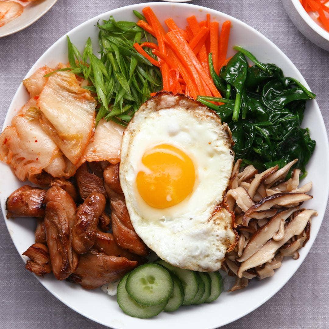 Easy Chicken Bibimbap Recipe To Help Digestion