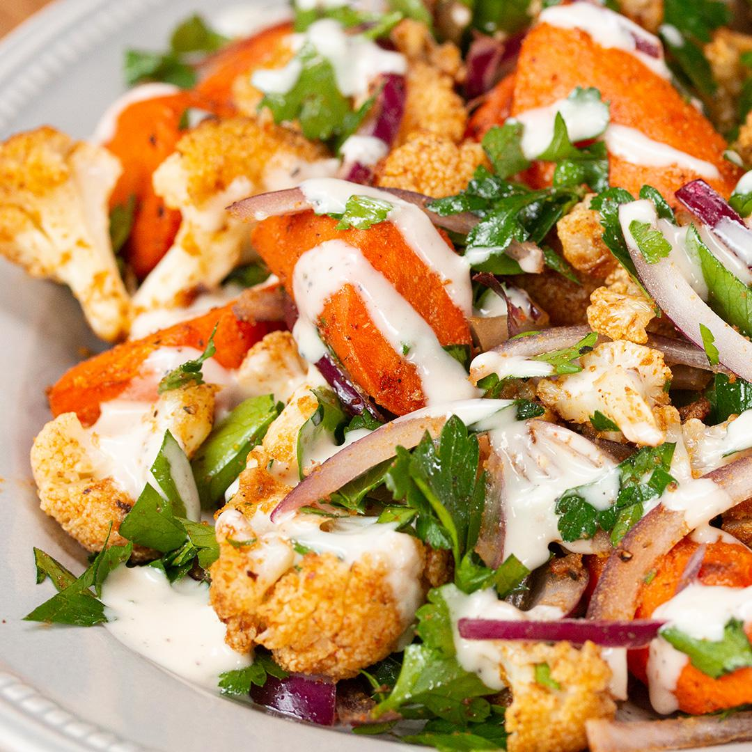 Roasted Cauliflower Salad Recipe By Tasty