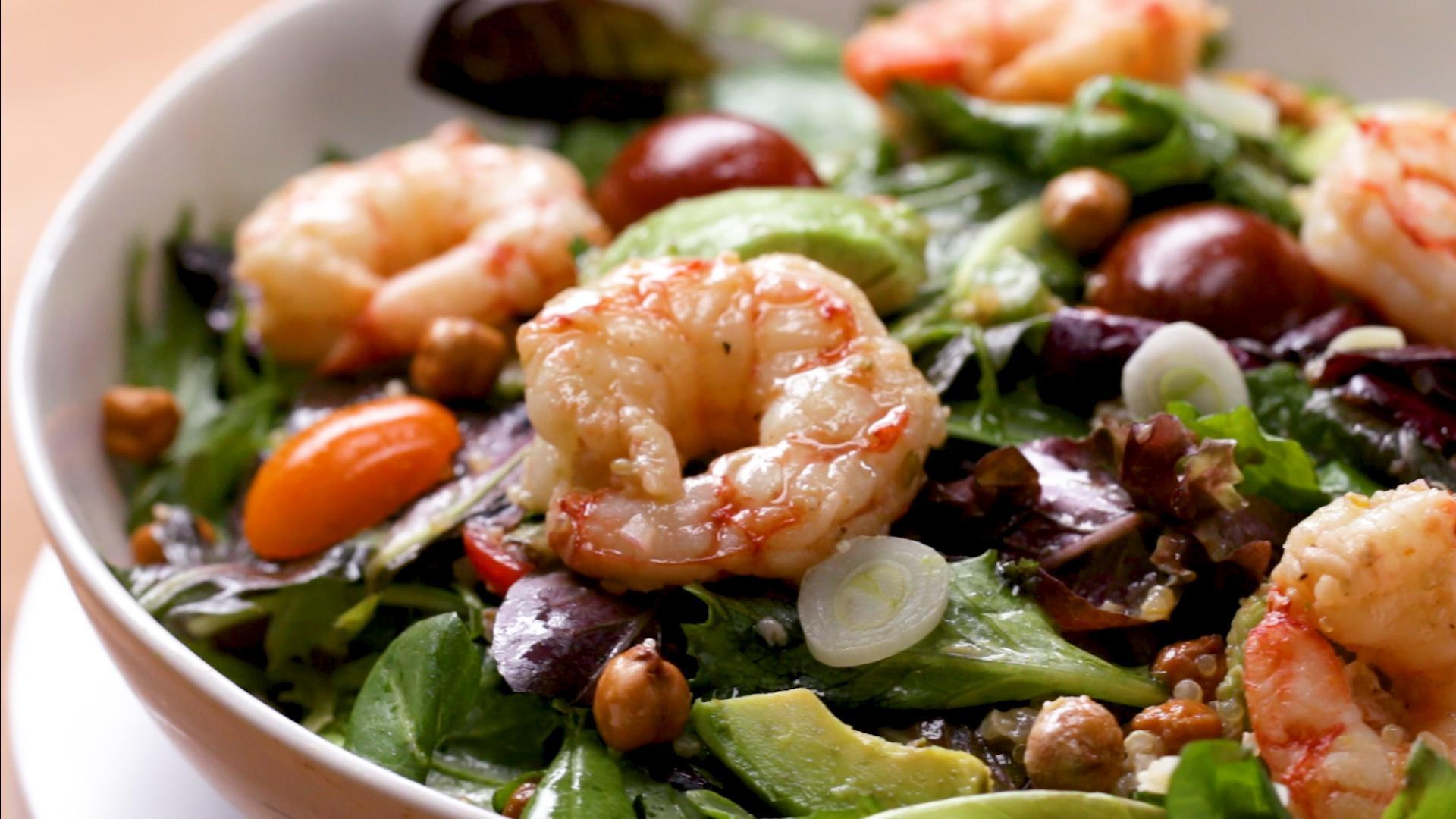 Seared Shrimp And Avocado Salad Recipe by Tasty