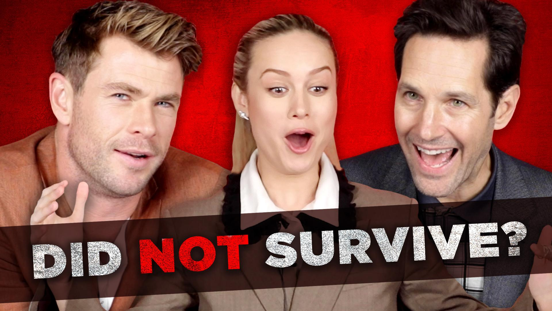 """Watch: BuzzFeed Video - The Cast Of """"Avengers: Endgame"""" Tries To Survive Thanos's Snap"""