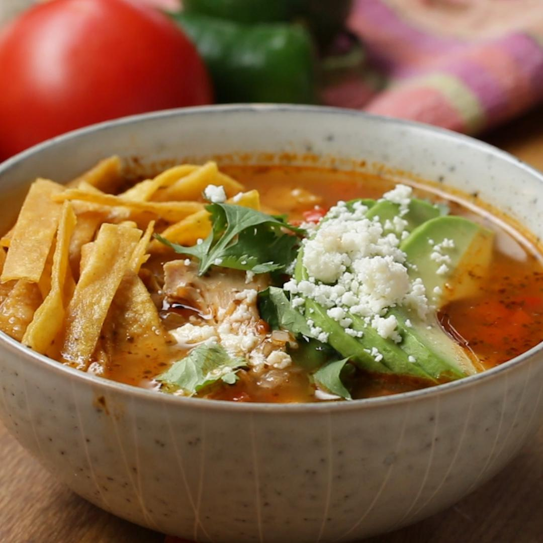 Hearty Chicken Tortilla Soup Recipe By Tasty