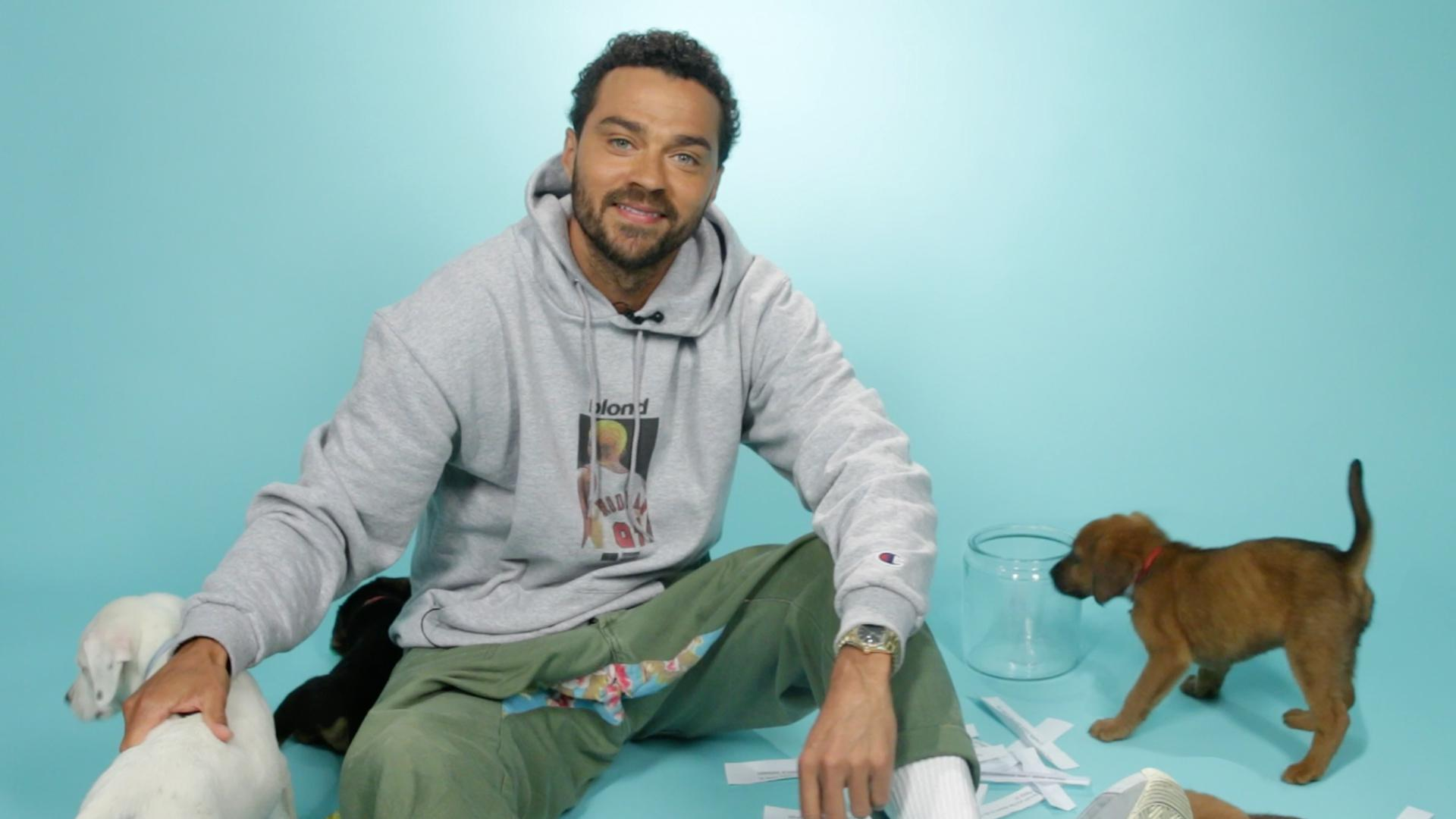 Watch: BuzzFeed Video - Jesse Williams Plays With Puppies While Answering Fan Questions