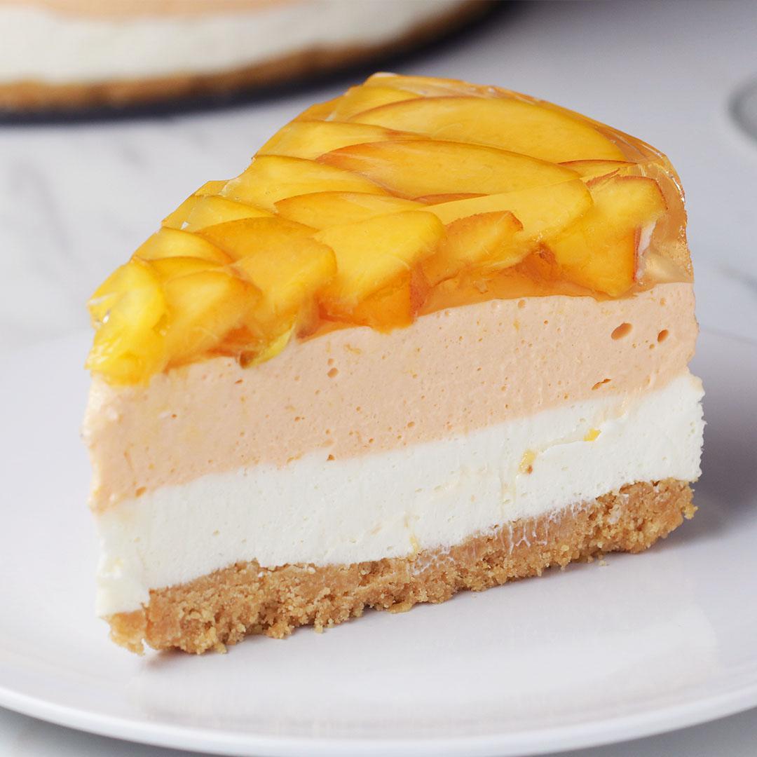Peaches N Cream Cheesecake Recipe By Tasty