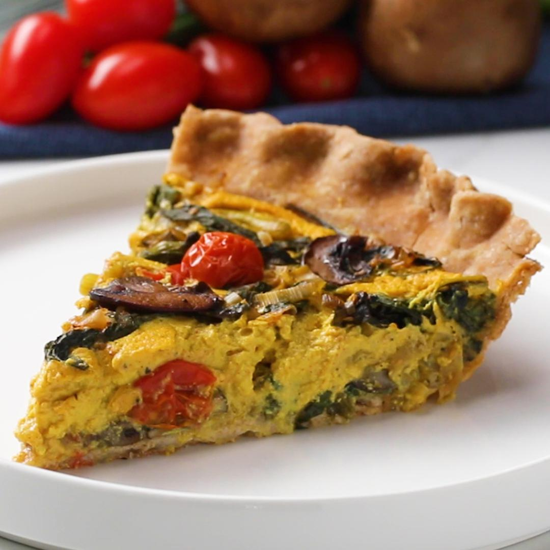 Garden Vegetable Vegan Quiche Recipe By Tasty