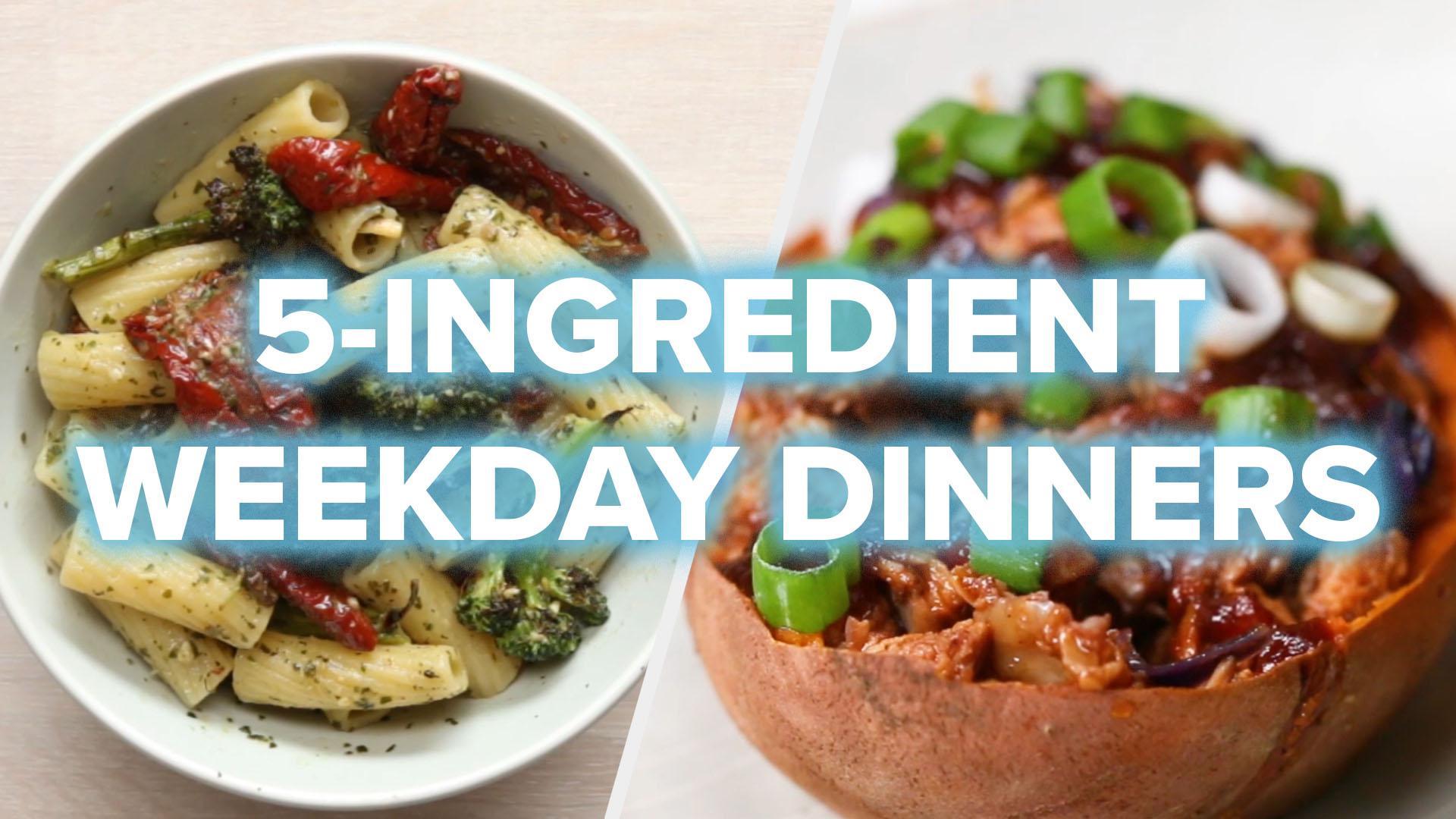 5 Ingredient Weekday Dinners Recipes