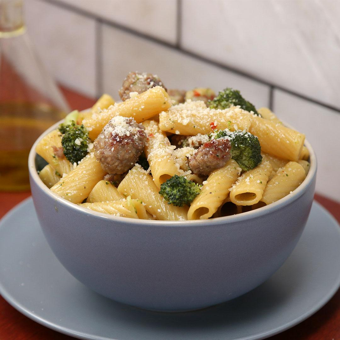 One Pot Spicy Sausage And Broccoli Pasta Recipe By Tasty