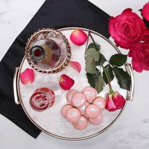 Strawberry Rosé Macarons