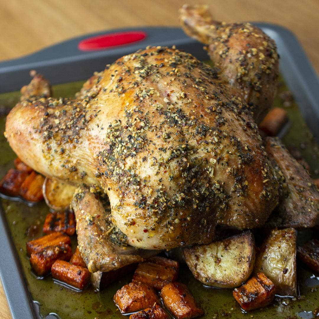 Hearty Roasted Chicken Recipe By Tasty