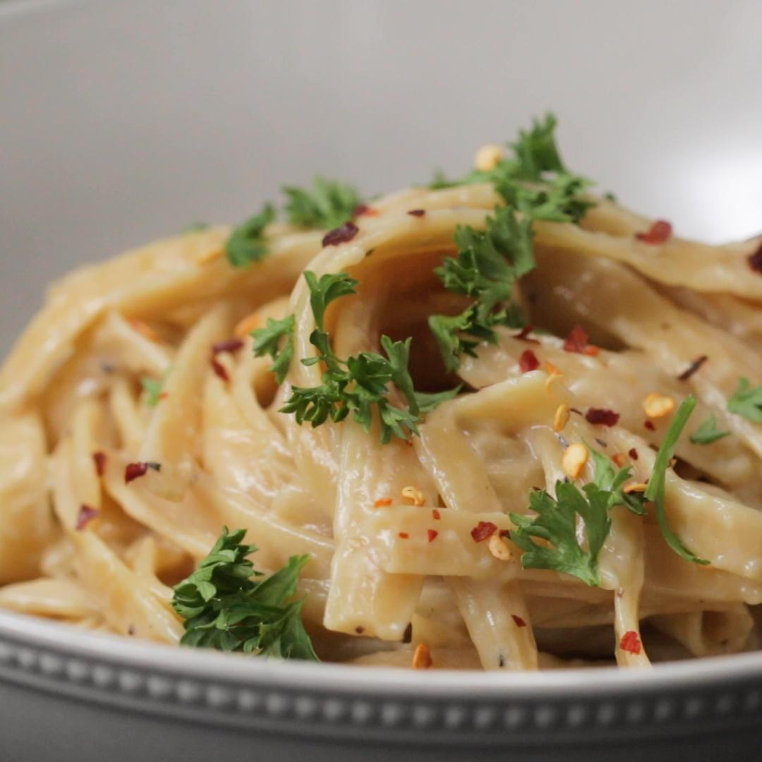 One Pot Garlic Parmesan Pasta Recipe By Tasty
