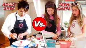 Tommy from MasterChef is competing with Remy and Olivia from MasterChef Junior.