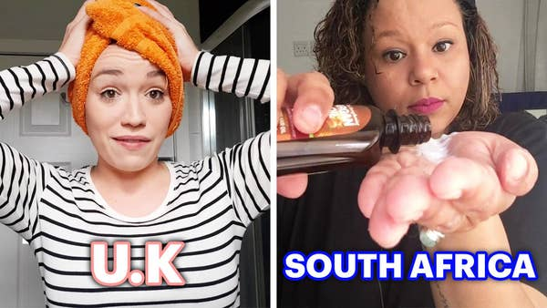 Woman from UK and woman from South Africa