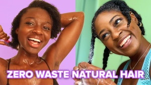 Two women trying zero waste natural hair routines