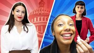 Alexandria Ocasio-Cortez's photo next to Carolina and Alana.