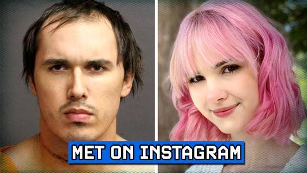 Bianca Devins and mugshot of the murder.