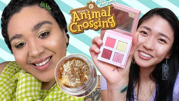 Jazzmyne and Joelle model their Animal Crossing Colourpop Collection makeup look.
