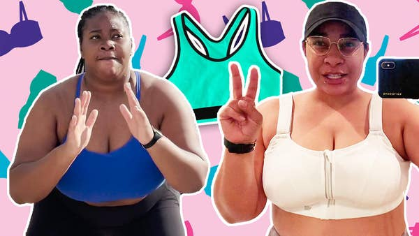 Destiny and Janae are shown wearing sports bras working out.