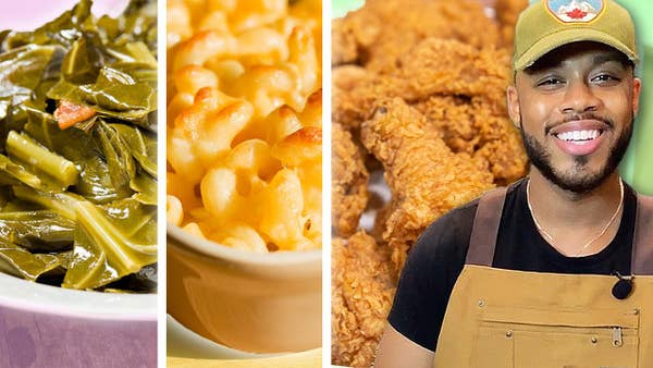 Collard Greens, Mac & Cheese, Fried Chicken