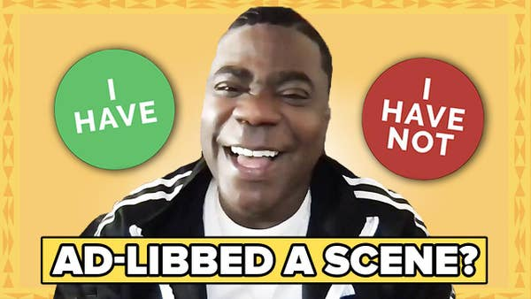 Tracy Morgan laughs while playing Never Have I Ever