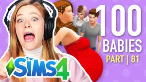 Kelsey looks shocked in front of Sims characters