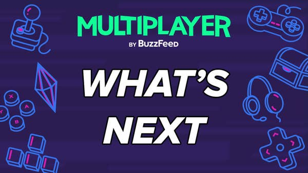 """Multiplayer logo above """"What's Next"""""""