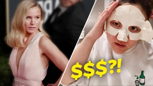 Jasmine tries on the face mask Kristen Bell swears by.