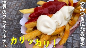 South Korean version of fries is tornado potato and the Netherlands version has onions and sauce on their fries.