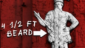 Statue of man with long beard