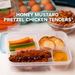 Honey Mustard Pretzel Chicken Tenders